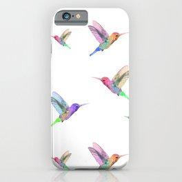 Watercolor Springtime Hummingbird iPhone Case
