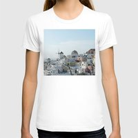 greece T-shirts featuring Greece Villas by Limitless Design