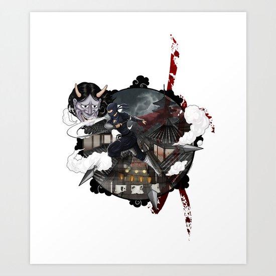 Kunoichi 3 of 4 Art Print