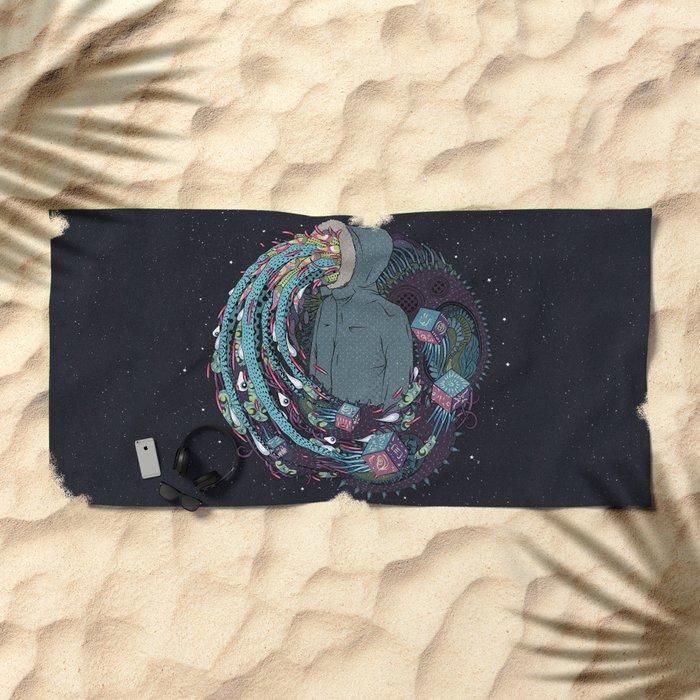 Mind Eruption Beach Towel