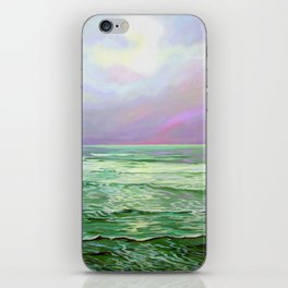 Wave Meditation by Amanda Martinson iPhone Skin
