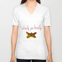 "starfox V-neck T-shirts featuring Crossover Starfox X Bioshock by Romain  ""Hak"" Quagliara"