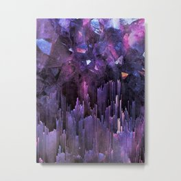 Ultraviolet Crystal World Metal Print