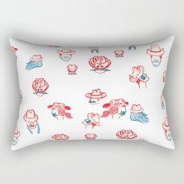 Cowboys and Girls Rectangular Pillow