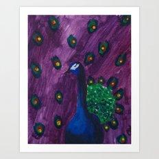 Peacock series Art Print