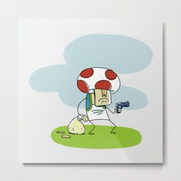 Troubled Times in Mario World Metal Print