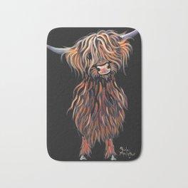 Scottish Highland Cow ' WEE MAC ' by Shirley MacArthur Bath Mat