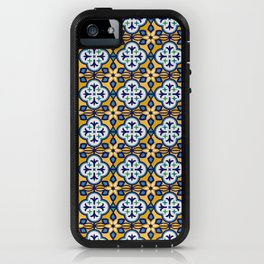 Yellow and Blue Moroccan Tile iPhone Case