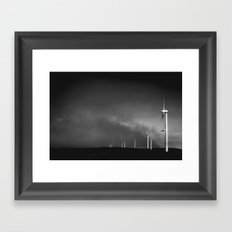 Campo de vientos Framed Art Print