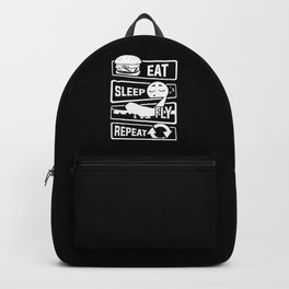 Eat Sleep Fly Repeat - Airplane Pilot Flight Backpack