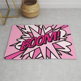 BOOM Pink Comic Book Pop Art Fun Cool Graphic Rug