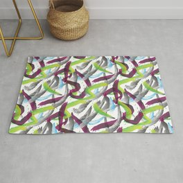 Purple shadows Pattern Rug