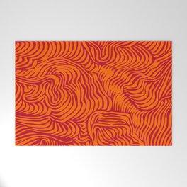 orange red flow Welcome Mat