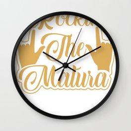 Rockin the Matura Wall Clock