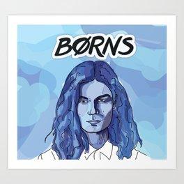 BLUE BORNS Art Print