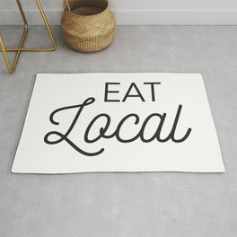 Eat Local Support Local Restaurants Diners Dives with this Foodie Typography T-shirt Apparel Rug