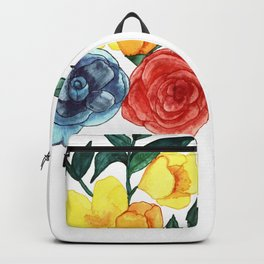Watercolor Flower Bouquet Backpack