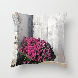 Doorstep Bouquet Throw Pillow