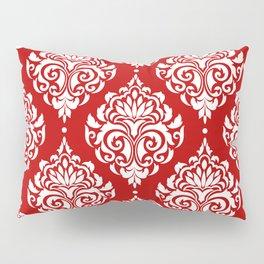 Red Damask Pillow Sham