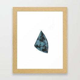 Turquoise Piece Framed Art Print