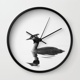 Great Crested Grebe Wall Clock
