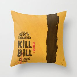 Kill Bill, Quentin Tarantino, minimal movie poster,  Uma Thurman, Lucy Liu, alternative film Throw Pillow