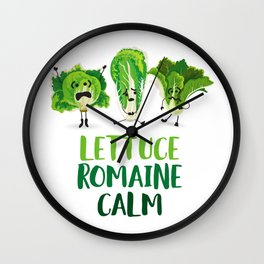 Lettuce Romaine Calm Wall Clock