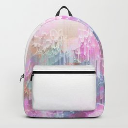 Magical Nature - Glitch Pink & Blue Backpack