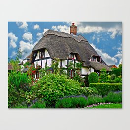 Quaint English Cottage Canvas Print