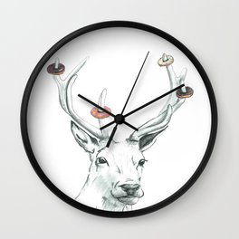 Doe-nut a Deer Wall Clock