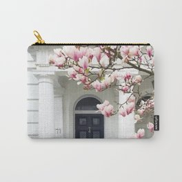 House and pink tree Carry-All Pouch