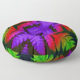 raibow Leaf Floor Pillow