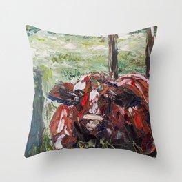 Bull in Cairns Throw Pillow