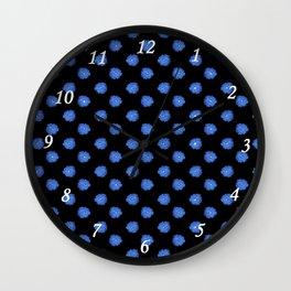 Blue flowers on back Wall Clock