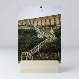Alcatraz stair workout Mini Art Print