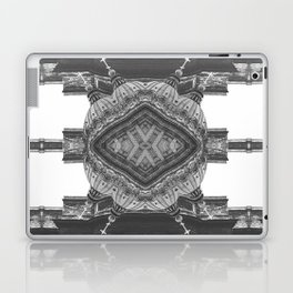 Architecture psychedelic b&w Laptop & iPad Skin