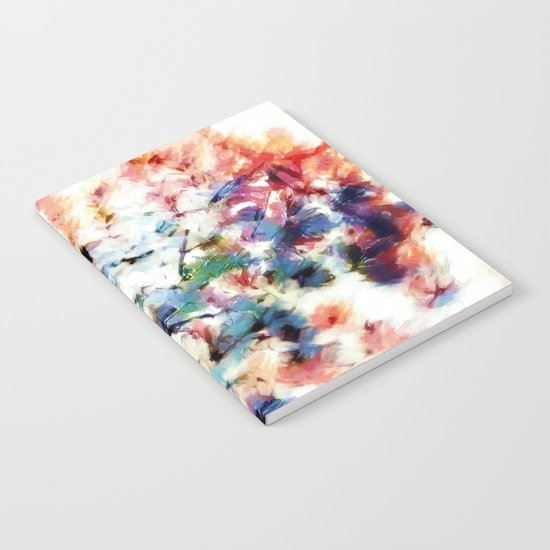 Print in watercoloring style, retro colors, illustration Notebook