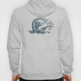 Dragon Letter E, from Dracoserific, a font full of Dragons. Hoody