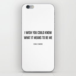 I wish you could know iPhone Skin