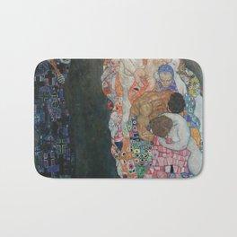 Death and Life - Gustav Klimt Bath Mat