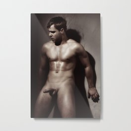 Photograph Erotic Nude Male Metal Print