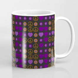 Halloween Peace Holiday Weave Coffee Mug