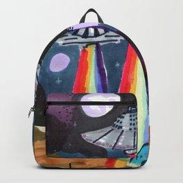 rainbow ufo Backpack
