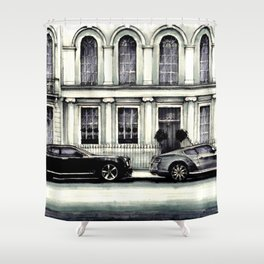 THE STREET OF LONDON IN GREYS Shower Curtain