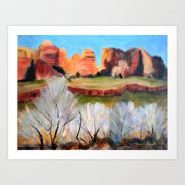 Sunset in Zion Art Print