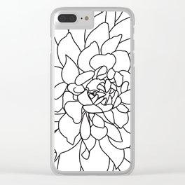 Dahlia 3 Clear iPhone Case