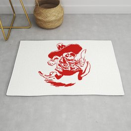 Skeleton Cowboy With Knife Rug