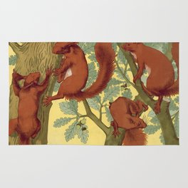 Vintage Squirrel Design, 1897 Rug