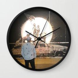Overlooking Iwo Jima Ghetto Wall Clock