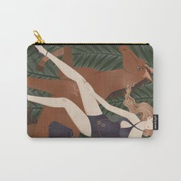 Lady on a horse Carry-All Pouch